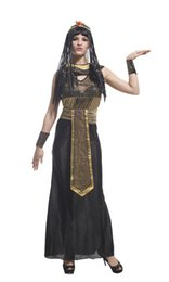 Wholesale sexy indian costumes women for sale - Group buy Shanghai Story Halloween adult women cos costumes sexy Egypt crown princess cleopatra Cosplay for cm women