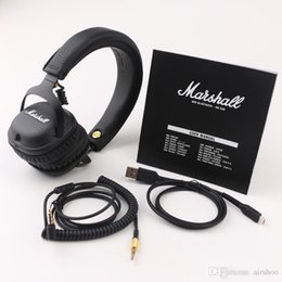 mid cell phone UK - 2017 Marshall MID Wireless Headphones With Mic Deep Bass DJ Bluetooth Headset Marshall Wireless Headphones Wireless headsets Free Shipping