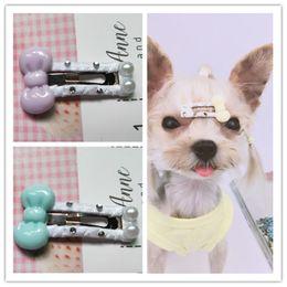Dog Grooming Hair Clip Australia - Handmade bow hair accessories 3 CM Dog Cat BB Hair Clips Mini Drops Teddy Yorkshire Dog Hairpin Pet Headdress Dog Hair Accessories