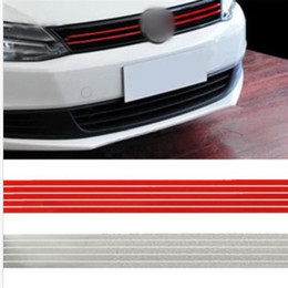 Vw Golf Grill NZ - Mayitr New Red Front Hood Grill Grille Decal Car Sticker For VW Golf 6 7 Tiguan