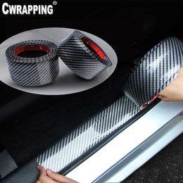 $enCountryForm.capitalKeyWord Australia - Car Styling 5D Carbon Fiber Vinyl Auto Door Edge Sill Protector Pedal Guard DIY Decals Wear-resistant Anti-collsion