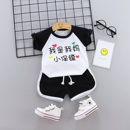 Clothes Wear For Kids Australia - todder boys fashion summer clothes for boys and girls 2pcs kids clothing Infant Boys kids wear new summer 1-2-3-4 years baby short