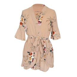 758b7967e51f Hot Sale Womens Jumpsuits Rompers Sexy Floral Chiffon Shorts Party Club  Nightwear Summer Beach Jumpsuit for Lady Girl