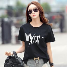 5b33d0e6fd0 T-shirt models cotton short-sleeved T-shirt female Korean women s loose  large size printing women s T-shirt bottoming shirt women 174225