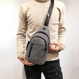 High Quality Sports Bag Shoulder NZ - Men Shoulder Bags High Quality Neutral Outdoor Sports Oxford Cloth Messenger Shoulder Bag Chest Bag Waist Bags Handbags