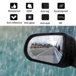 $enCountryForm.capitalKeyWord Australia - 2pcs Rainproof Car Rearview Mirror Film Sticker Anti-fog Protective Film Rain Shield Replacement 110*85mm