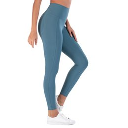 high apparel NZ - LU Sports Fitness Overall Trousers Women High Elastic Waist Lifting Hip Yoga Pants Running Leggings Apparel S M L XL 75ly E19