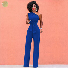 Green summer jumpsuit women online shopping - Women Off Shoulder Casual Jumpsuits Wide Leg Pants Overalls Summer Elegant Rompers Womens Jumpsuit Party Female