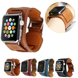 Discount apple watch 38mm classic - Luxury Genuine Leather Apple Watch Band for Apple Watch 42mm 38mm Band Classic Bracelet Belt Strap for iwatch Series 4 3