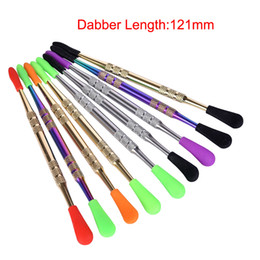 custom dab tools Australia - Custom silicone tip Wholesale dab wax dabber tool with silicone tip end stainless steel dab tools for oil vaporizers