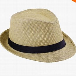Chinese  Custom straw fedora hats in good price Summer hat with band summer felt hat YIWU factory wholesale high quality manufacturers