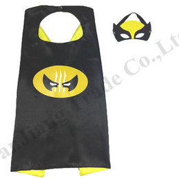 $enCountryForm.capitalKeyWord NZ - 70*70cm Double Side Superhero Capes and Masks for Kids Cosplay Party Halloween Costumes 2 Layers Children Cartoon Cape Set 97 Designs C71602