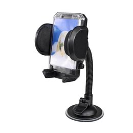 cell phone neck holder 2019 - Suction Cup Car Dashboard Windshield Mount Holder With Tube Neck Sucker Bracket Retractable Mount Stand For Mobile Cell