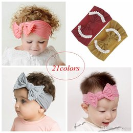 lotus hair Australia - Baby nylon headbands Knotted Hair Band For Toddler InfantTurban lace lotus leaf bow Headbands soft scollop hairbows head band hairwear