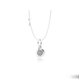 $enCountryForm.capitalKeyWord Australia - 925 Sterling Silver Signature Pendant Necklace Original Box for Pandora CZ Diamond Disc Chain Necklace for Women Men