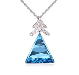 $enCountryForm.capitalKeyWord UK - Made in China fashion jewelry Woman Originality Ornaments Using Swarovski Elemental Crystal Necklace Luxurious triangle Pendant