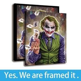 Ingrosso Arte della parete con cornice Arte della pittura con Joker Poker Stampa HD su tela Comic Villain Artwork - Decorazione della casa - Pronta per essere appesa