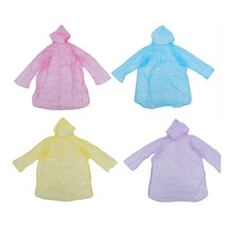 camp poncho UK - 10Pcs Disposable Hooded Poncho Emergency Raincoat Adult Camping Hiking Travel
