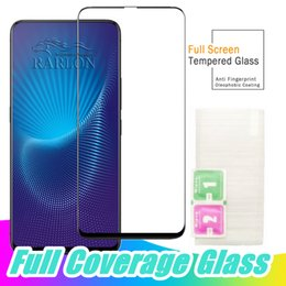 screen protector oppo Canada - Full Coverage Tempered Glass 9H Hardness Screen Protector for Xiaomi 9 POCO F1 F2 OPPO Reno Find X F11 Vivo X27 Pro NEX