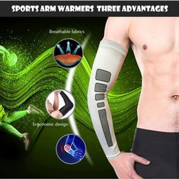 basketball silicone 2019 - Men's and women's sports non-slip silicone anti-UV running compression arm sets cycling bicycle arm warm baske
