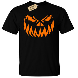 Chinese  PUMPKIN FACE T-Shirt Mens Halloween jack o lantern 2018 New Brand Mens T Shirt Cotton Short Sleeve print 100% cotton casual manufacturers