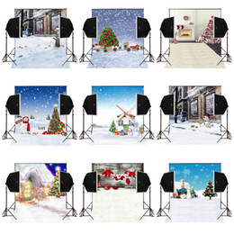 Photography Christmas Digital Backdrops Australia - 150x220cm merry christmas snow scenic photography backdrops for photos camera fotografica digital cloth props studio photo background vinyl