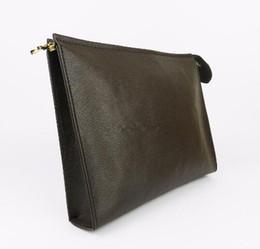 Опт верхняя продажа бумажника письмо цветок Кофе черный решетчатые мужские сумки женщин кошельки Косметические мешок молнии сумки кошельки с коробкой