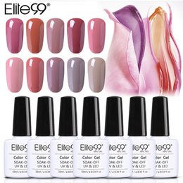 nude uv color gel 2021 - Elite99 10ml 24pcs Set Nude Color Series UV Gel Lacquer Nail Varnish Need Long Lasting Gel Base Top Coat Need Led Lamp To Cure