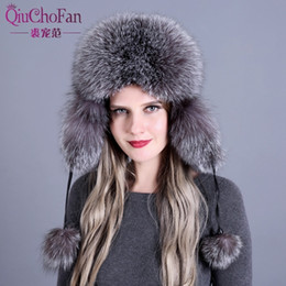 362669b0e48d8 Trappers Hats Women Australia - Russian leather bomber leather hat women  winter hats with earmuffs trapper