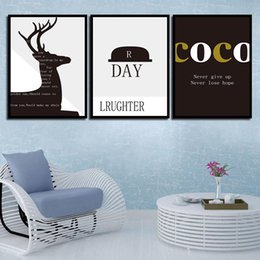 Nursery Room Art Prints Australia - Painting Picture Nordic Posters Simple Hat Wall Art Canvas Nursery HD Printed Deer For Baby Room Kids Bedroom Decoration