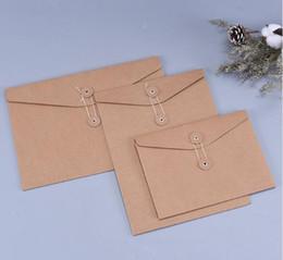 Pocket crafts online shopping - Brown Kraft Paper A5 A4 Document Holder File Storage Bag Pocket Envelope Blank with Storage String Lock Office Supply Pouch