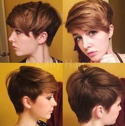$enCountryForm.capitalKeyWord Australia - Indian hair Short Pixie Cut Wigs for Black Women Human hair Wig for Women Small Curly African American Cheap Human Hair Cute Wig