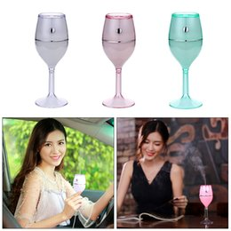 $enCountryForm.capitalKeyWord Australia - 1 Pcs 2019 Hot Selling Product Exquisite Humidifier Wine Cup Desk Lamps Usb Colorful Air Humidifier Portable No Noise Led Bulbs