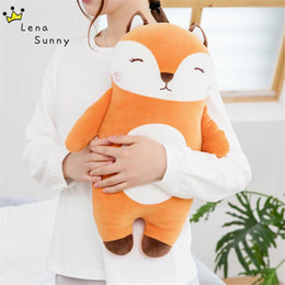 lovely gifts for girlfriend Australia - 20cm 45cm Fox Stuffed Plush Toys For Children Gift Cute Fluffy Soft Animal Fox Pillow Lovely Christmas Gift for Girlfriend kids