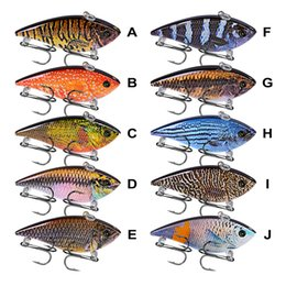 "Bass Fishing Lures Australia - Lures 10PC Lot Pencil Fishing Lures VIB Bait 12g-0.42oz Fishing Tackle 6# Hooks 3D Eyes Bass Baits 6.95cm-2.73"" 10 Colors VIB Set 2018"