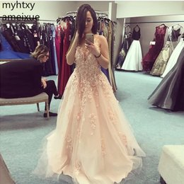 $enCountryForm.capitalKeyWord Australia - 2019 New Sexy Plus Size Fairy Long Prom Dresses Deep Custom V-neck 3d Lace Appliques Sweet 16 Party Dress Coral Color Gowns