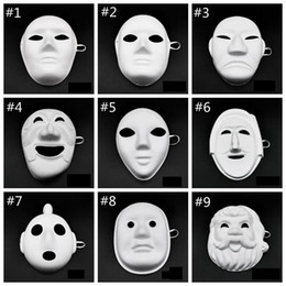 $enCountryForm.capitalKeyWord UK - 100pcs Papper DIY Party Mask Creative Painting Halloween Chirstmas Party Mask Children Women Men DIY Half Face Full Face Masks