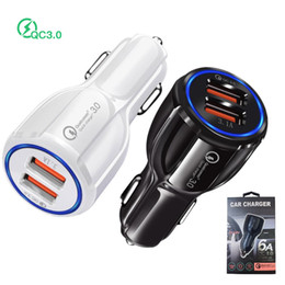 usb car charger fast charge Canada - 18W USB car charger dual port QC3.0 fast charge Adapter universal 12V 3.1A mobile Cell Phone charger for iPhone Samsung LG