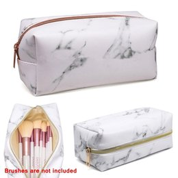 $enCountryForm.capitalKeyWord Australia - Women Large Capacity Cosmetic Bag Marble Make Up Bag Portable Toiletry Purse Student Travel Student Stationery Storage Case Kit
