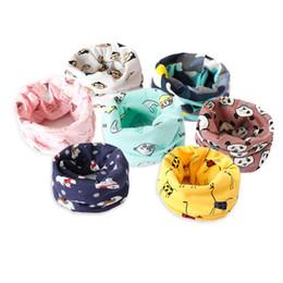Scarfs Cotton Australia - Baby Hat Neck Scarves Animal Print Cotton Girl Boy Beanie Scarf Toddler Infant Kids Caps Cartoon Knit Bonnet Accessories