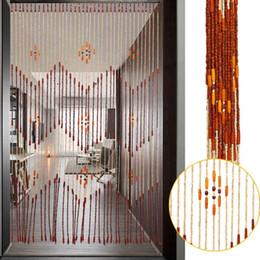 $enCountryForm.capitalKeyWord Australia - Fashion Wooden Door Curtain Blinds Handmade Fly Screen Wooden Beads Room Divider 90x175cm-38 wave   90x195cm-36 line
