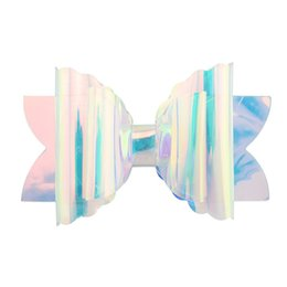 Baby Sequin Hair Clips Wholesale UK - INS Sequin Glitter Laser Bowknot Hairpins Baby Girls Double Clips Bows Hair Clip Kids Transparent Barrettes Headwear Hair Accessories