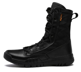 Special forceS deSert bootS online shopping - 2019 big Men s outdoor high Gang army wear resistant special forces tactical boots antiskid extra large desert combat shoes fitness training