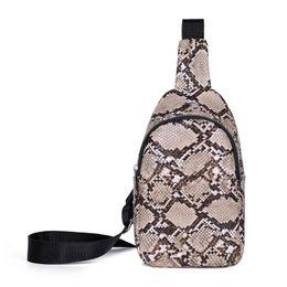$enCountryForm.capitalKeyWord Australia - Women Snake Pattern PU Leather Waist Pack Zipper Casual Shoulder Crossbody Bags Chest Pouch Bag Sac A Dos Bolsas Feminina Mujer
