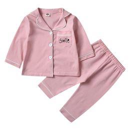 Boys pajamas shorts cotton online shopping - SAILEROAD Children s For Girls Kids Smile Autumn Long Sleeve Pajamas Set Child Homewear Boys Sleepwear Girl NightwearMX190919