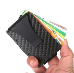Black Blocks Australia - Black Carbon Fiber Money Clip Upgrade Version RFID Blocking Wallet Slim Design Credit Card Business Card ID Holder For Men Free DHL LX6150