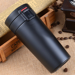 stainless steel tea thermos NZ - 380ml Travel mug for coffee tea thermal Bottle Stainless Steel Vacuum Flasks thermocup thermo mug portable thermoses drinkware T200525