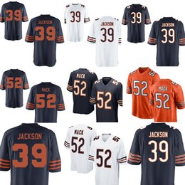 Bears 39 Eddie Jackson 52 khalil Mack jersey Top sales Mens Chicago Bears  10 Mitchell Trubisky Football Jerseys 8cdb4fef1