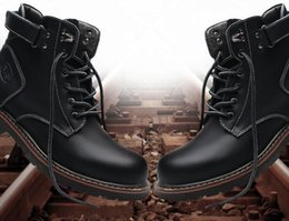 Hand Safety Cartoon Australia - 2018 new autumn men's Europe and the United States Martin boots casual help fashion boots thick-soled shoes2