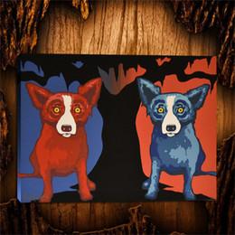 $enCountryForm.capitalKeyWord Canada - Blue Dog My Valentine,1 Pieces Canvas Prints Wall Art Oil Painting Home Decor (Unframed Framed) 24X32.